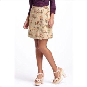 Anthropologie Postmark chair Wrap Canvas Skirt